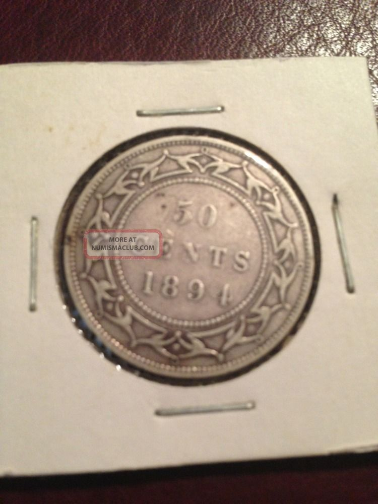 1894 Newfouland 50 Cents Low Mintage Key Date Coins: Canada photo