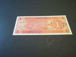 Netherlands Antilles 1 Gulden 1970 P 20 Unc photo