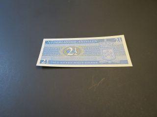 Netherlands Antilles 2 1/2,  2.  5 Gulden 1970 Unc P.  21 photo