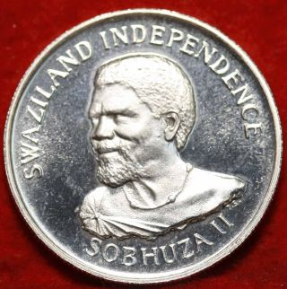 Uncirculated Proof 1968 Swaziland 50 Cents Silver Foreign Coin S/h photo
