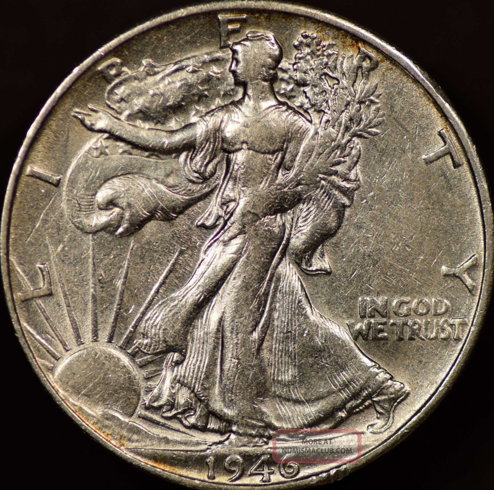 1946s Walking Liberty Half Dollar Almost Uncirculated Liberty Walking (1916-47) photo