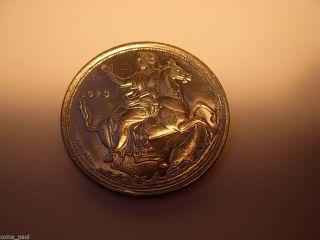 Greece Grece Grecia 1973 20 Drachma Nymph On Horse,  Dolphin Large Coin photo