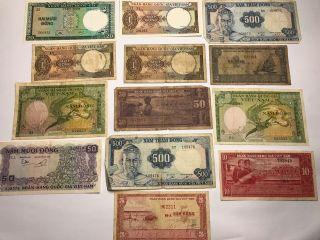 Old Vietnamese Money Viet - Nam Paper Money photo