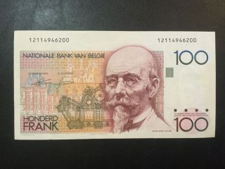1978 Belgium Paper Money - 100 Francs Banknote photo