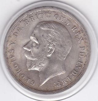 1935 King George V Large Crown / Five Shilling British Coin photo