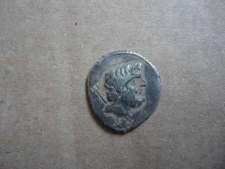Ancient Roman Ar Silver Denarius Coin L.  Staius Murcus 42 - 41 Bc Extremely Rare photo