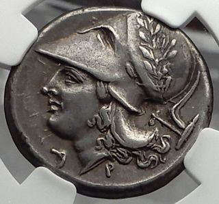 Corinth 375bc Pegasus Athena Ancient Silver Greek Stater Coin Ngc Ch Xf I58291 photo