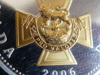 Gold Plated Gem 2006 Victoria Cross Anniv.  Silver $1.  00 C.  C.  C.  S.  Pf - 69 U.  H.  C. photo