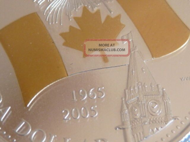 Gold Plated Gem 2005 Canadian Flag Anniv.  Silver $1.  00 C.  C.  C.  S.  Pf - 68 U.  H.  C. Coins: Canada photo