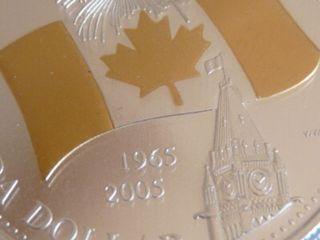 Gold Plated Gem 2005 Canadian Flag Anniv.  Silver $1.  00 C.  C.  C.  S.  Pf - 68 U.  H.  C. photo