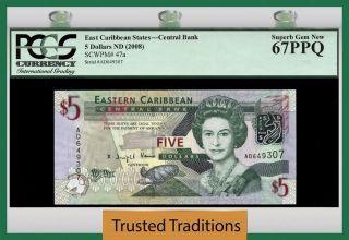 Tt Pk 47a 2008 East Caribbean States $5