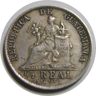 Elf Guatemala 1/2 Real 1901 (h) Libertad Quetzal photo