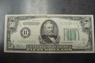 1934 A $50 Federal Reserve Note photo