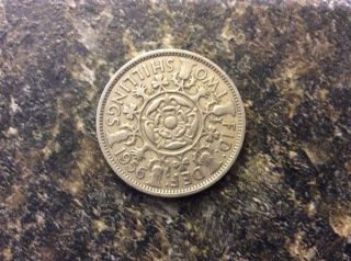 Great Britain Two Shilling Coin 1956 photo
