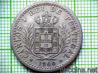 Portugal Carlos I 1900 100 Reis photo