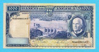 Portugal - Angola Mil Escudos 1970 Aunc Rare photo