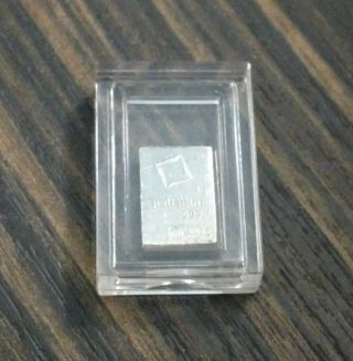 1 Gram Valcambi Palladium Bar In Airtite Capsule Minor Scratches,  On photo