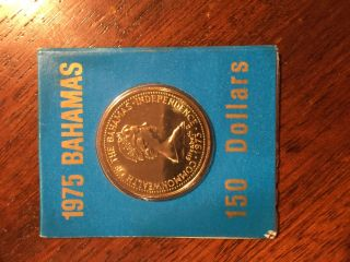 Bahamas 1975 $150 Gold Coin - Bu State Ms In Case photo