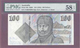 1984 Nd Australia One Hundred $100 Dollars Pmg 58 Epq Ca Unc Pick : 48a R608 photo