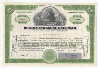 Boston And Maine Railroad Company Stock photo