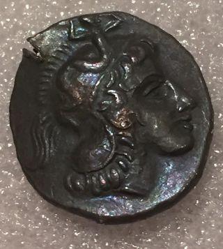 Ancient Greek Roman Coin Drachm Calabria Owl 200 Bc Athens Or Attica photo