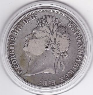 1822 King George Iv Large Crown / Five Shilling British Coin photo