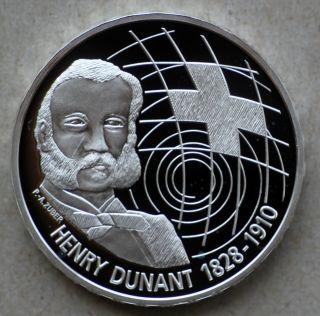 2010 Switzerland 20 Francs,  Comm. ,  Proof,  Silver,  Henry Dunant photo