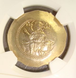 Ad 1078 - 1081 Nicephorus Iii Ancient Byzantine Electrum Histamenon Nomisma Ngc Ms photo