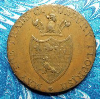 1793 Great Britain Suffolk Lowestoft Half Penny Conder Token D&h 39 photo