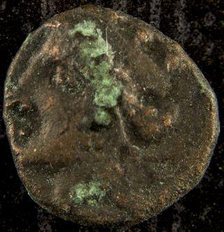 Ancient Greek Olbia Sarmathia Black Sea Coin Tyche And Bow Shooter,  370 - 360 Bc photo