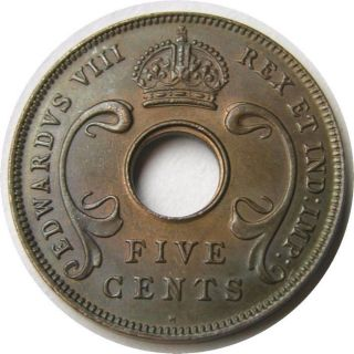 Elf East Africa 5 Cents 1936 H Edward Viii Elephant photo