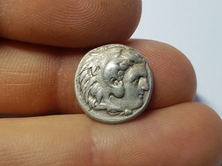 Ancient Greek Silver Drachm Coin Of King Philip Iii Arrhidaeus - 323b photo