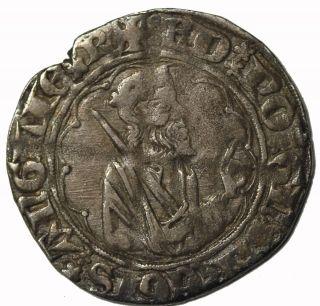 France Anglo - Gallic Edward The Black Prince Silver Demi Gros Larochelle S.  8131 photo