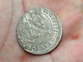 Poland - 1/4 Thaler Sigismund Iii Vasa 1624 - Luster Coin photo