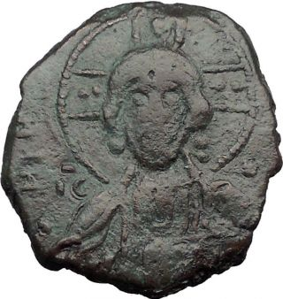 Jesus Christ Class A2 Anonymous Ancient 1028ad Byzantine Follis Coin I32403 photo