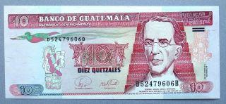 Guatemala=2007 10 Quetzales P - 111b Unc photo