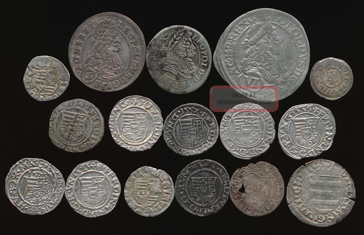 16 Hungarian Hammered Silver Medievals (1300 ' S To 1600 ' S) Interesting No Rsrv Europe photo
