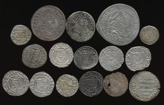 16 Hungarian Hammered Silver Medievals (1300 ' S To 1600 ' S) Interesting No Rsrv photo