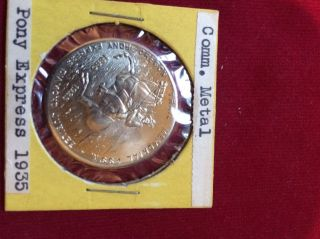 1935 Pony Express 75th Anniversary So Called Half Dollar Token - Vk217 - 4 photo