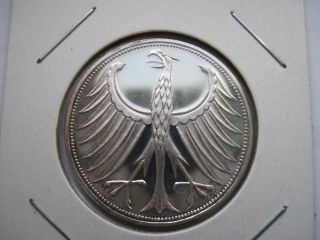 Germany Federal Republic Silver 5 Mark Proof 1968 - G photo