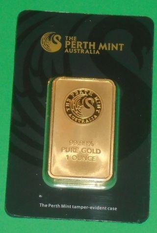 Perth 1 Oz 24 - Karat Gold Bar photo