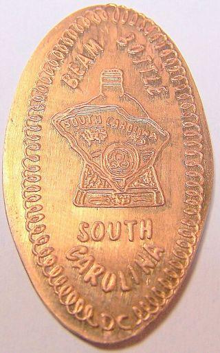 Cra - 59: Beam Bottle On Elongated Cent - South Carolina photo