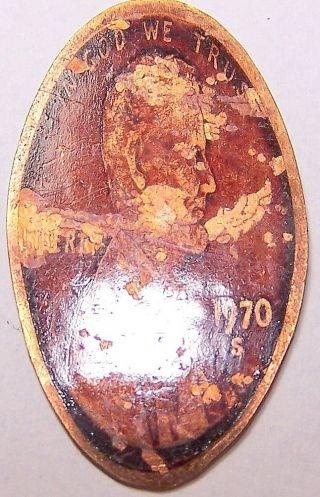 Cra - 41: Beam Bottle On Elongated Cent - Las Vegas Golden Nugget photo