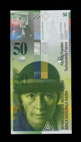 Switzerland 50 Franken 2002 L Sign.  71 Pick 71a Unc Banknote. photo