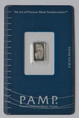 1 Gram Pamp Suisse Platinum Bar - In Assay photo