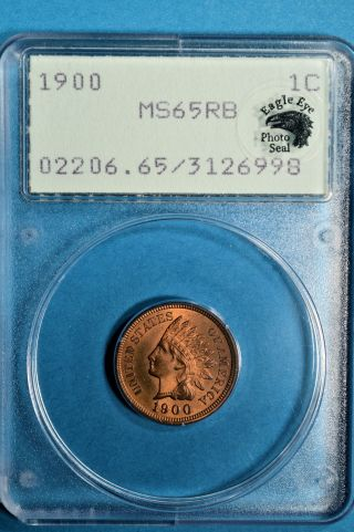 1900 Indian Head Cent Pcgs Ms65rb - Exceptional Eagle Eye Endorsed Gem,  Ogh photo