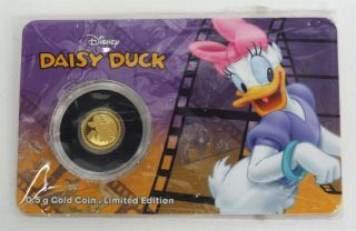 Disney Daisy Duck Niue $2.  5 Gram.  9999 Fine Gold Coin Limited Edition 1,  500 photo