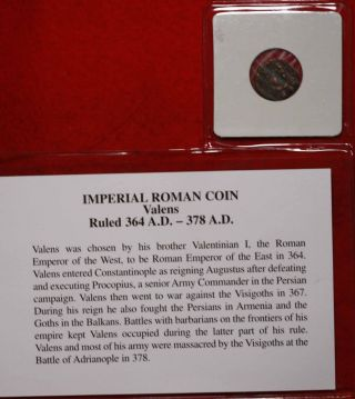 Imperial Roman Coin Valens 364 - 378 A.  D.  Foreign Coin S/h photo