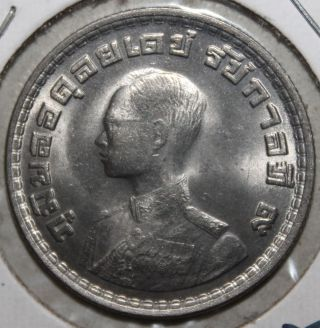 Thai 1 Baht Coin,  1962 (2505) - Y 84 - Thailand - Rama Ix photo