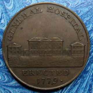 Great Britain Warwickshire Kempson ' S Half Penny D&h 180 Uncirculated Rare Rr5 photo